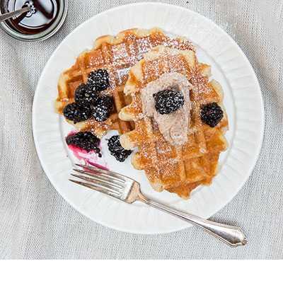 Blackberry Belgian Waffle