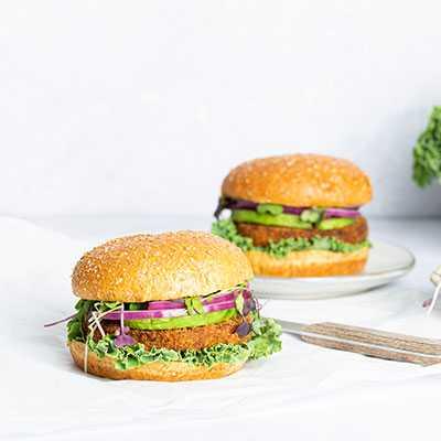 Breaded Eggplant Sandwich on Vegan Whole Grain Brioche-Style Bun