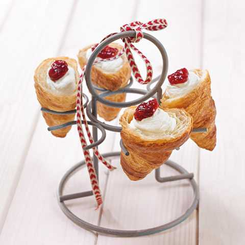 Croissant with Whipped Cream and Strawberries