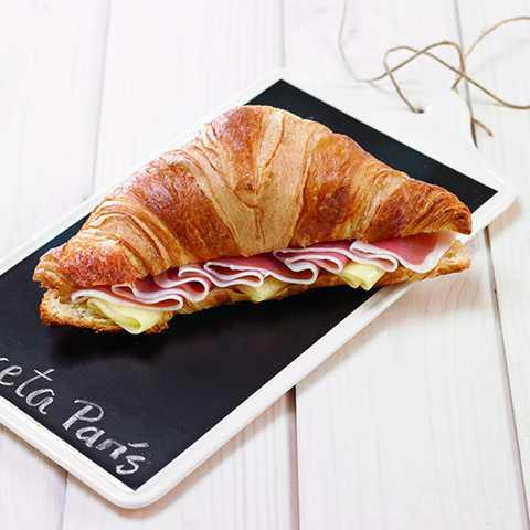 Ham & Swiss Cheese Croissant Sandwich