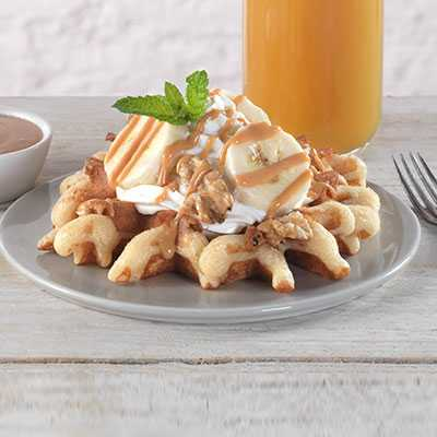 Peanut Butter Banana Belgian Waffle