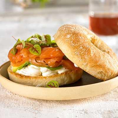 Salmon & Cheese Bagel