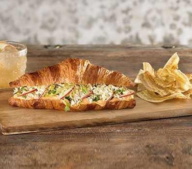 hredded Chicken Croissant Sandwich