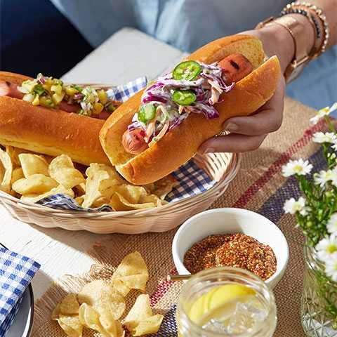 Slaw Brioche Hot Dog