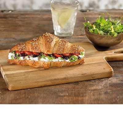 Vegetable & Cheese Croissant Sandwich