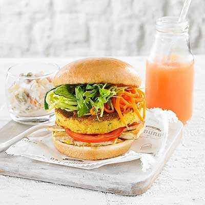 Veggie Burger on Vegan Brioche-Style Bun