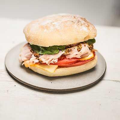 sandwich Ham & Cheese on Telera Roll
